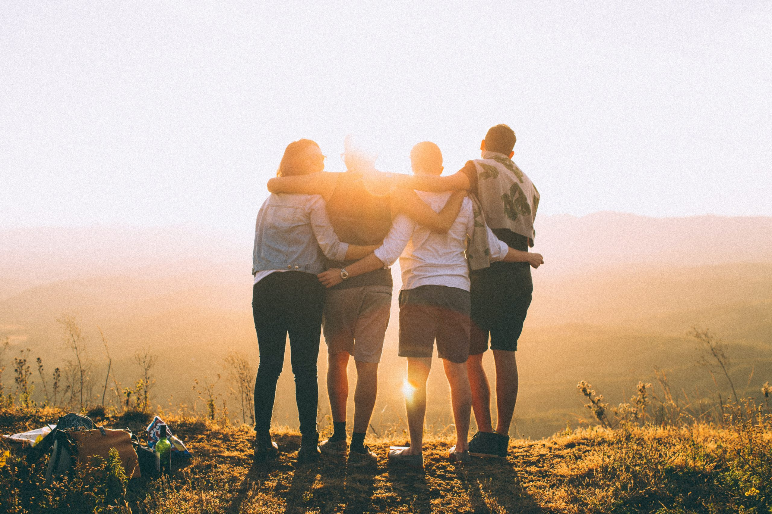 Group standing in sun