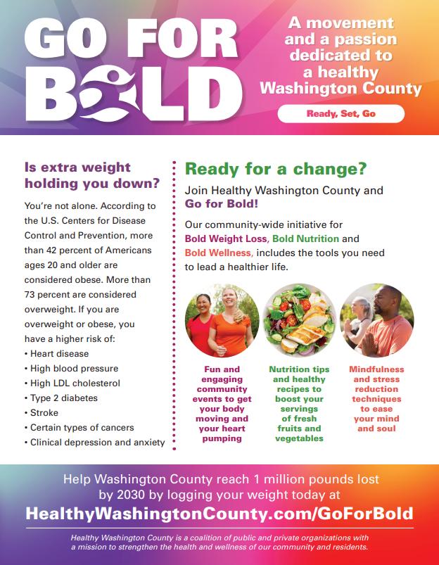 Go For Bold flyer
