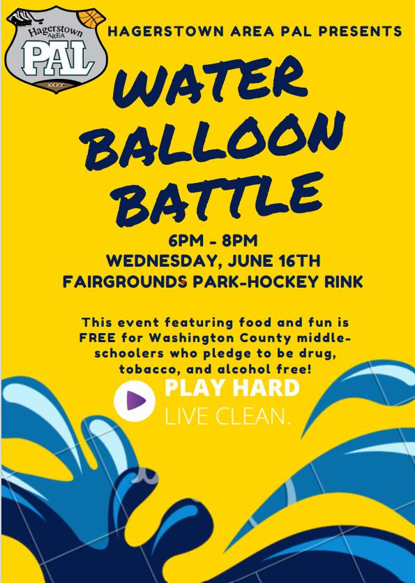 water balloon battle flyer