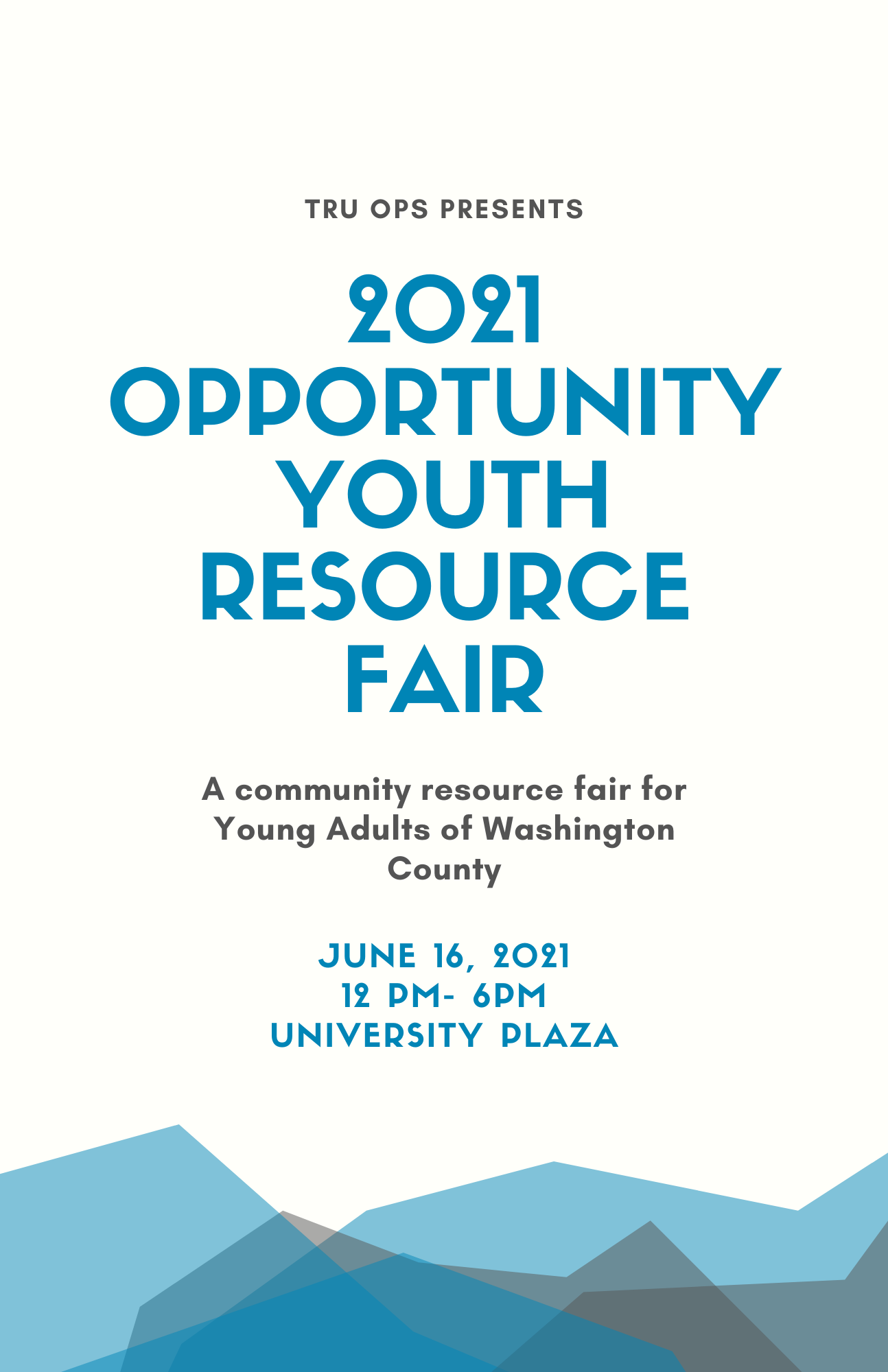 opportunity youth resource fair flyer